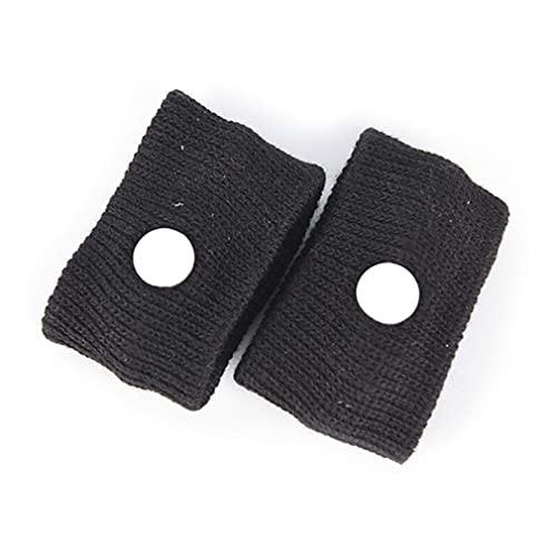 1 paar verstelbare herbruikbare reispolsband anti-misselijkheid katoenen polsband auto beweging zachte polsband (zwart 6 * 3 cm)