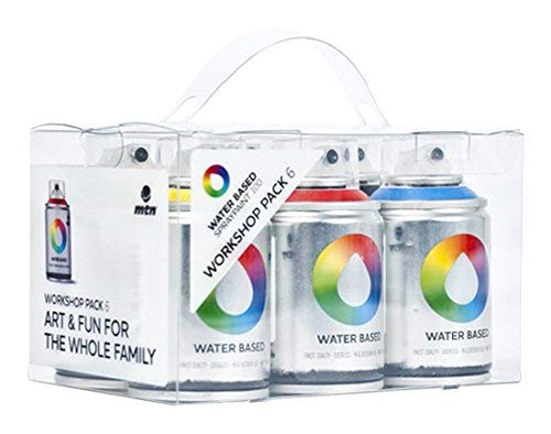 MTN Colors - Water Based Spray Paint Workshop Pack - 6 x 100ml Cans