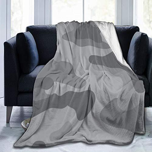 Bernice Winifred Tela para niños con patrón de Camuflaje Gris Claro Moderno Manta de Microfibra Ultra Suave Hecha de Franela Anti-Pilling, más cómoda y cálida.60x50
