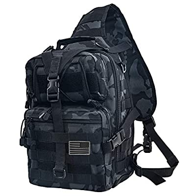 hopopower Tactical Sling Bag Backpack for Men, Military Sport Bag Pack Sling Shoulder Backpack for Every Day Carry