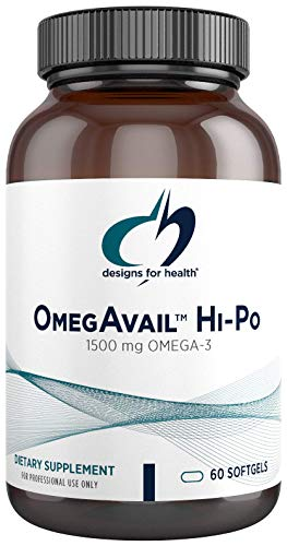 Designs for Health OmegAvail Hi-Po - TG (Triglyceride) Omega-3 Fish Oil Supplement, 1500mg EPA/DHA per Serving with Lemon + Vitamin E to Minimize Fishy Taste (60 Softgels)