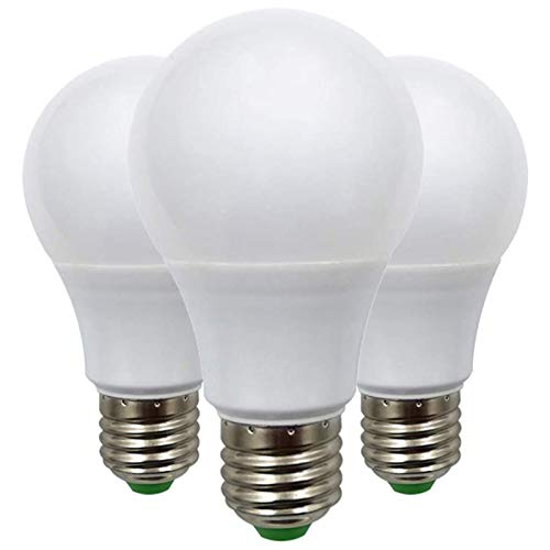 Bombilla LED E27 de Rosca Edison de 7W ( 60W ), Bombilla de Globo A70 ES, 12V Bajo Voltaje, Ideal Para Iluminación Solar Fuera de la Rejilla, Barco, Caravana, luz Blanca Cálida 2700K, Pack de 3