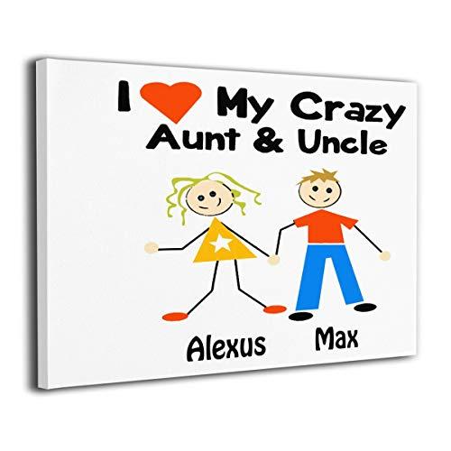 Paint C Wandbild, Motiv: I Love My Crazy Aunt and Oncle, ohne Rahmen, fertig zum Aufhängen, 30,5 x 20,3 cm