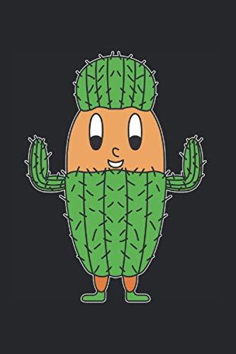 Kaktus's Notizbuch: 120 weiße Seiten kariert | blanko mit Karos | 15.24 x 22.86 cm (6