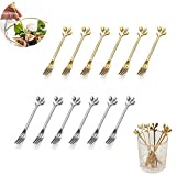 Stainless Steel Fruit Fork Dessert Fork/Cocktail Tableware/Party Tableware/Stainless steel/12 Pieces