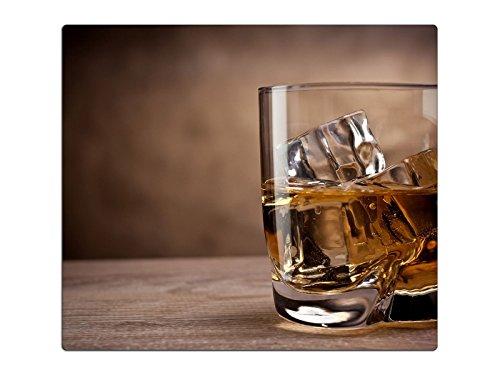 Herdabdeckplatte Schneidebrett Spritzschutz aus Glas, Multi-Talent HA50790681 Whiskey Variante Einteilig (1 Panel)