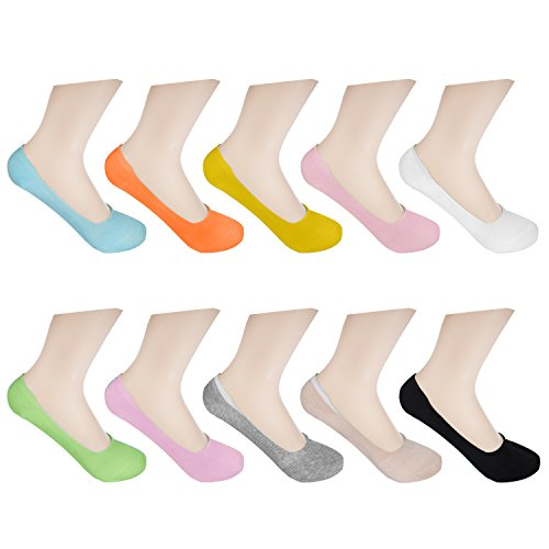 Diferentes colores no se resbalan Tal/ón y parte delantera reforzada Calcetines de corte bajo hechos de algod/ón 9 pares Unisex. Diferentes tallas