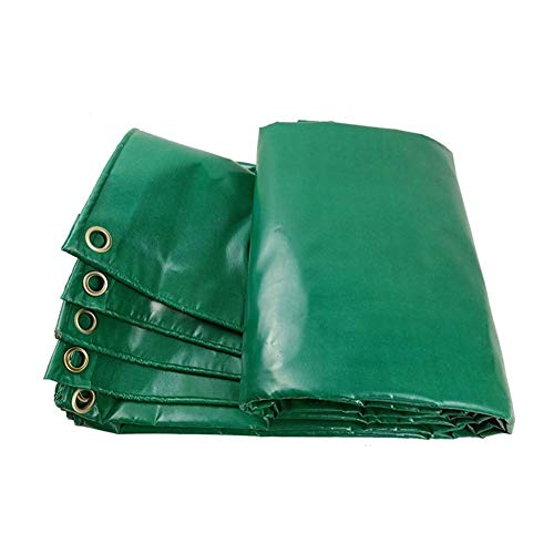 YXB Dekzeil Waterdicht Heavy Duty,Tent Shelter/Fire Wood Cover, Multi-Purpose Poly Tarp, Verstevigde Grommets, Green FENGMING-yb (kleur : Groen, Maat : 3x4M) 4x4M Groen