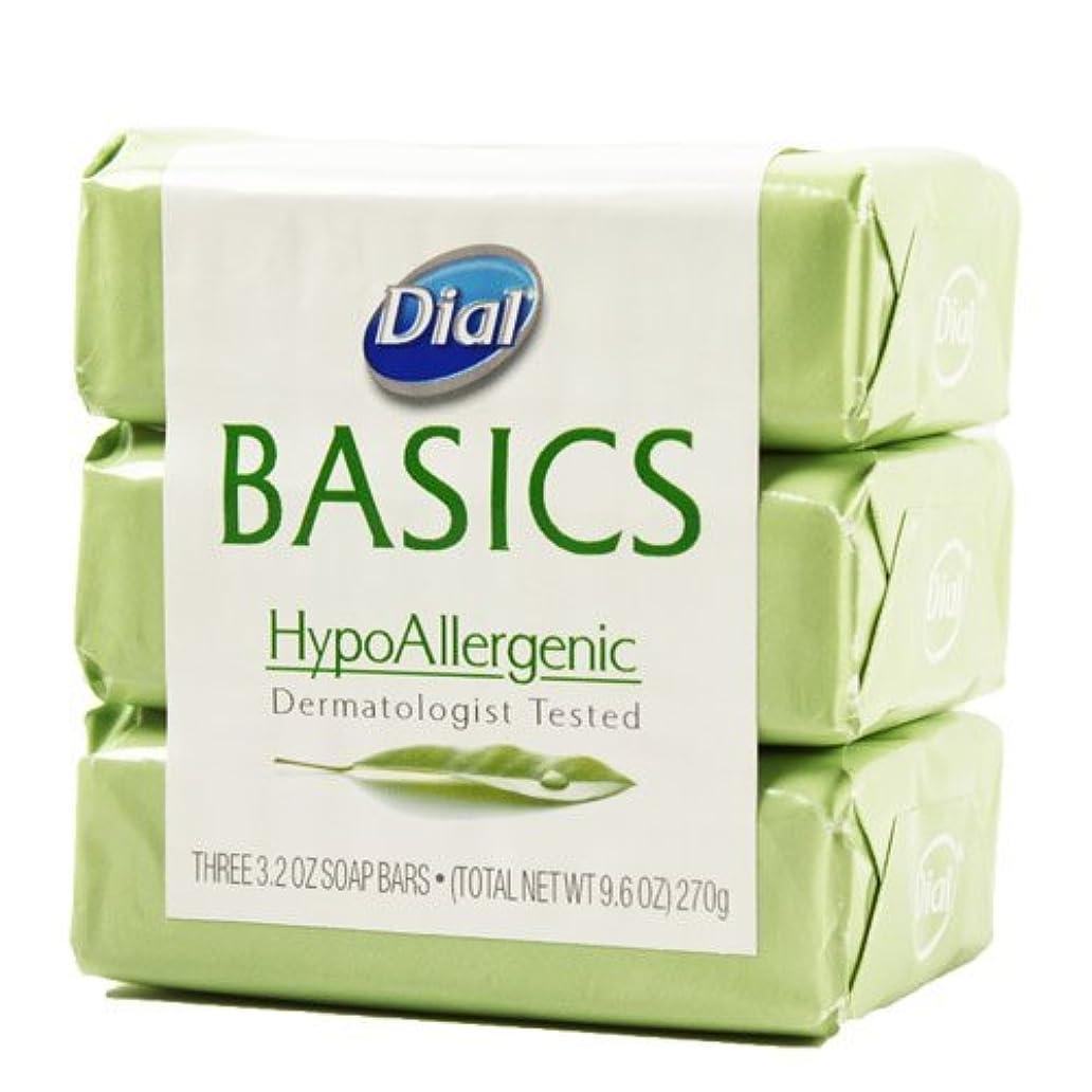 拍手する真面目な兵士Dial Basics HypoAllergenic Dermatologist Tested Bar Soap, 3.2 oz (18 Bars) by Basics