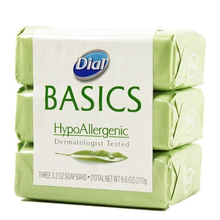 ストレス承知しました分泌するDial Basics HypoAllergenic Dermatologist Tested Bar Soap, 3.2 oz (18 Bars) by Basics