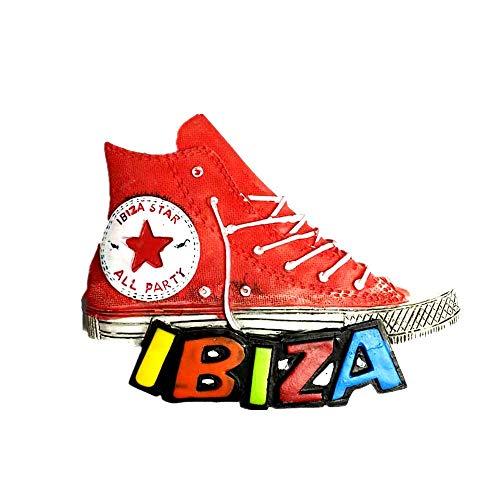 Imán de madera 3D de Ibiza España para nevera, recuerdo de viaje, colección de regalo, decoración para el hogar y la cocina