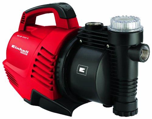 Einhell Gartenpumpe GE-GP 5537 E (590 W, 3,8 bar Druck, 3750 L/h Förderleistung, Vorfilter, Rückschlagventil, Wasserablassschraube, Tragegriff)