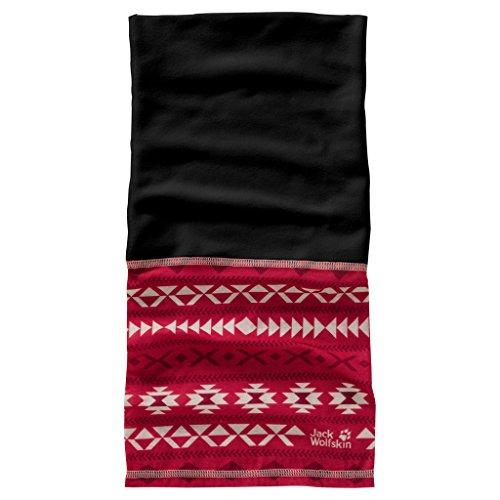 Jack Wolfskin Print Fleece Headgear Unisex-schlauchschal, Scarlet All Over, ONE Size