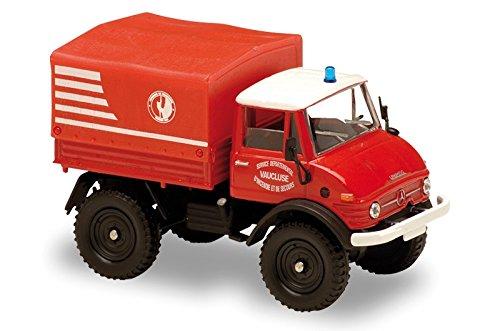 Solido - 150142 - Véhicule Miniature - Modèle À L'Échelle - Mercedes-Benz Unimog 406 Secours De Montagne - Echelle 1/50
