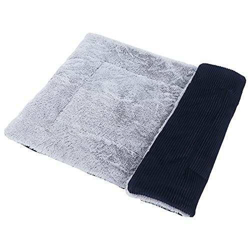 Vejaoo Soft and Warm Mat Bed in Black Cat Cushion Dog Cushion Dual Purpose Pet Cushion XZ014 (M (75 * 55CM), Wick Dark Blue)