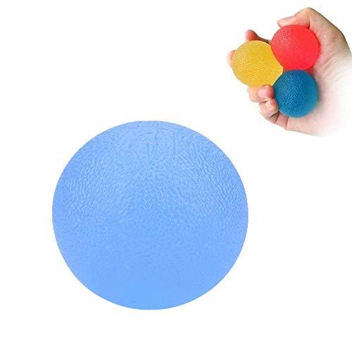WESEEDOO Handtrainer Ball Handtraining Entspannung Handübungswerkzeug Handstärkung Finger Grip Exerciser Stressbälle für Erwachsene Handübung Blue,53mm