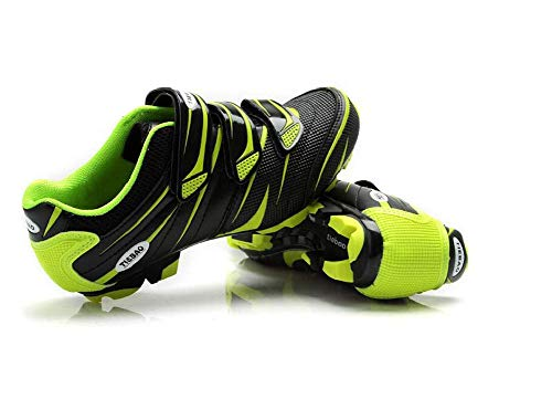 Zapatillas Ciclismo MTB Compatible Sistema Shimano SPD Unisex Hombre/Mujer Verde Size: 47 EU