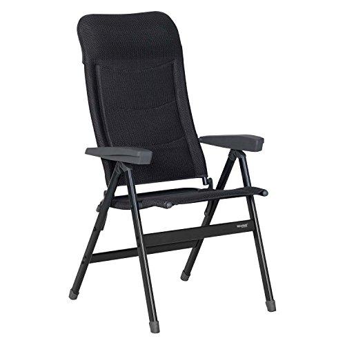 Westfield Advancer, vouwstoel, klapstoel, antraciet, opvouwbaar, aluminium, belastbaar tot 140 kg, campingstoel