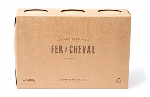 Fer à Cheval Echte Marseiller Seife Savon de Marseille, pflanzlich, Würfel, Set mit 6x 600g