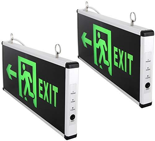 2er Pack - LED Schild - Notausgang Fluchtwegleuchte Notleuchte Exit 230V - beidseitig beleuchtet