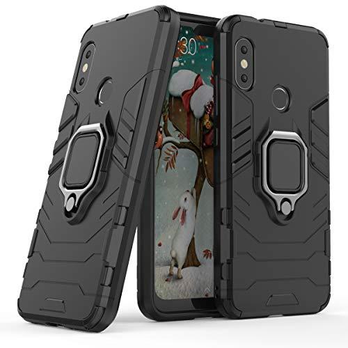 Cocomii Black Panther Ring Xiaomi Mi A2 Lite/Redmi 6 Pro Case, Slim Thin Matte Vertical & Horizontal Kickstand Ring Grip Bumper Cover Compatible with Xiaomi Mi A2 Lite/Redmi 6 Pro (Jet Black)