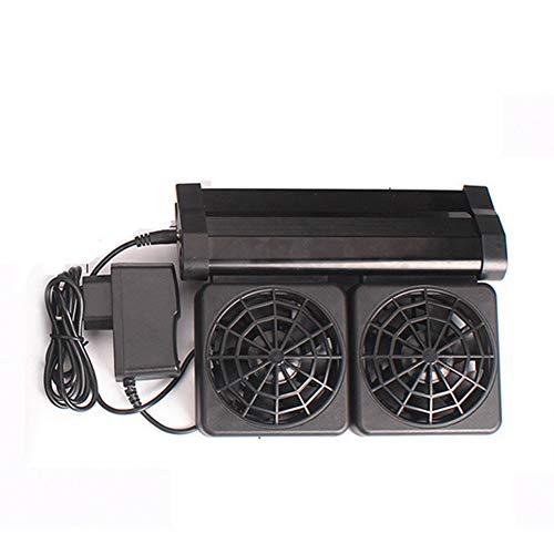 Liapianyun Acuario enfriadoras Ventilador de refrigeración Acuario Marino Ventilador 2 Ventilador, Acuario Ventilador de refrigeración del Ventilador para acuarios de Agua Dulce y Salada,Negro
