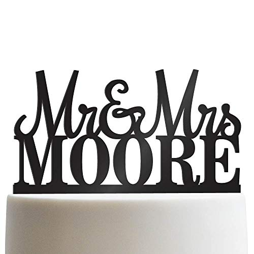 Custom Personalized Mr & Mrs Wedding Cake Topper With Your Last Name Acrylic Cake Topper for Special Events