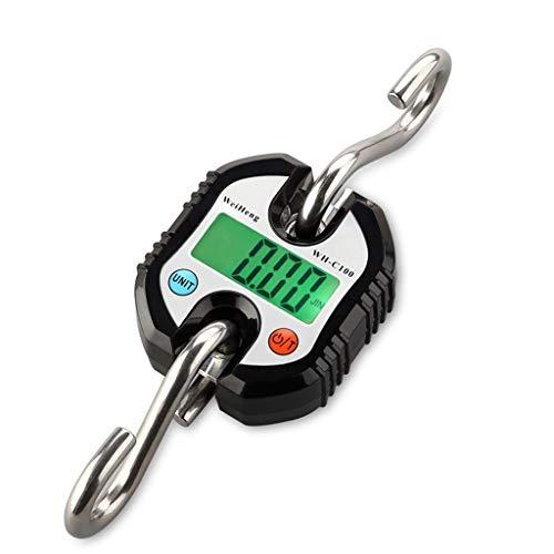 LBBL Postal Scale Keukenweegschalen, met Timer Zeer nauwkeurig Multifunctionele 150kg/50g Eenvoudig te reinigen LCD Display Lichtgewicht en Duurzaam Zwart