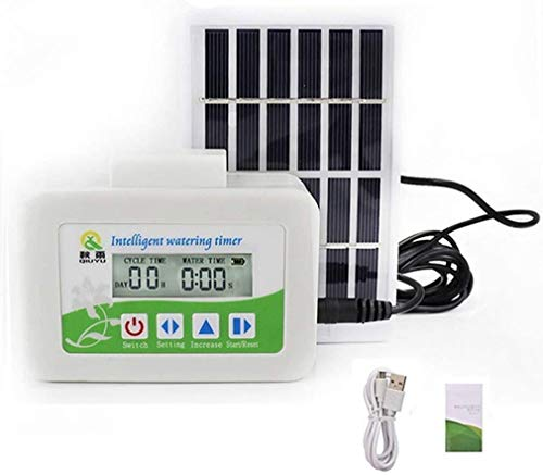 Solar Energy Automatic Watering System, Upgrade Smart Water Pump Automatic Drip Irrigation Kit Self Watering System with Timer, Garden Automatic Watering Device for Potted Plants Flower Vegetables