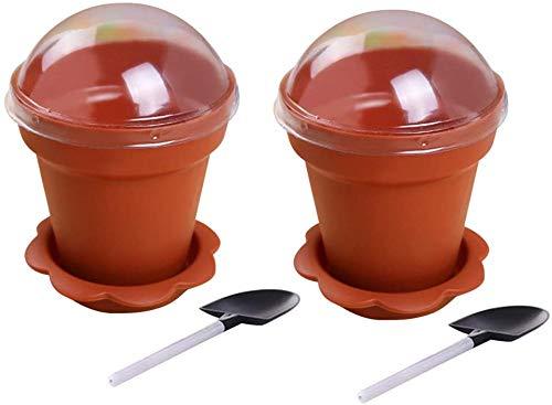 UPKOCH - Juego de 30 mini macetas con cuchara