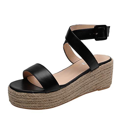 Luckycat Sandalias Mujer Cuña Alpargatas Plataforma Bohemias Zapatos Romanos Verano 2019 Mujer...