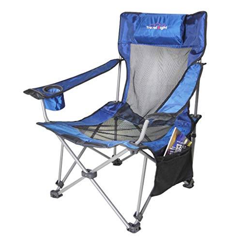 Mlimy Ajustables Dual al Aire Libre - Uso de Playa Plegable Descanso for Comer sillas de Pesca Ajustable sillas de Ocio sillas Plegables ( Color : Blue )