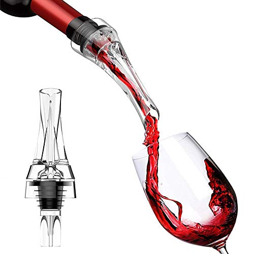Nevsetpo Wine Aerator Breather Pourer Non-drip Decanter Spout Gift Set for Party, Barware and Bar Gadget Wine Accessory