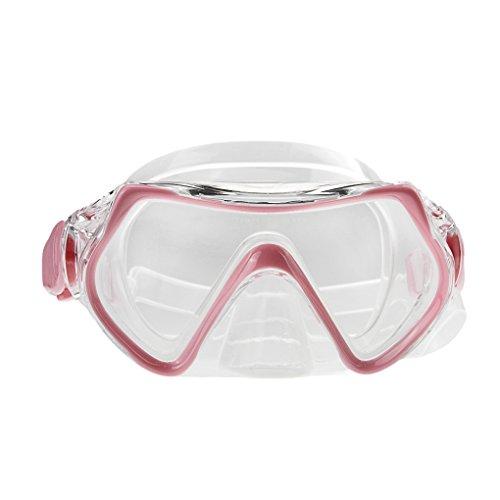 Kinder Schnorchelbrille Taucherbrille Mädchen Jungen Sport Schwimmbrille Tauchmaske mit Tauchmaske und Schnorchelrohr, Tempered Glas, Verstellbares Silikonband, 5-10 Jahren (Rosa)