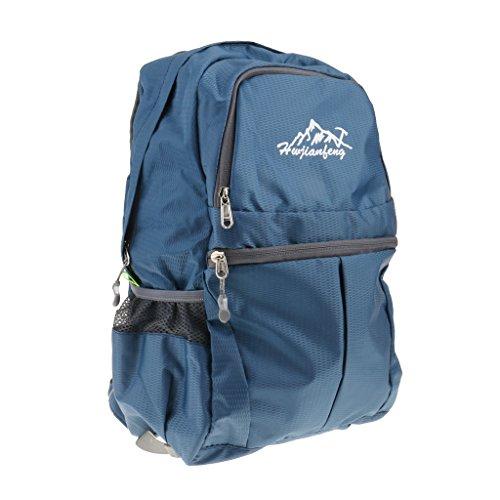 Generic Sac à Dos Etanche 20L Sac de Voyage Pliable Léger pour Randonnée Camping - 308x218x420mm, Bleu Foncé