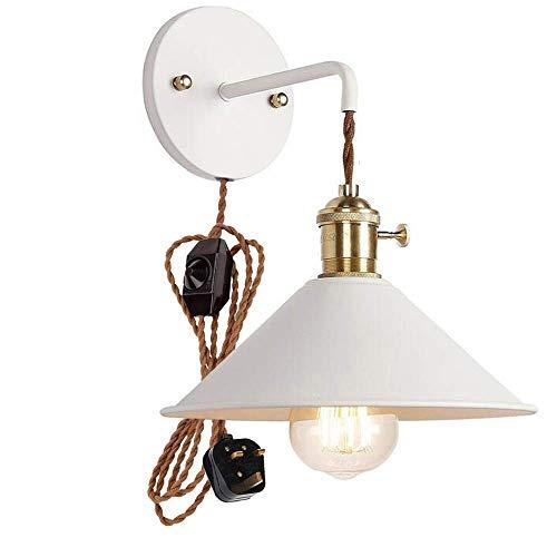 Wandlamp, binnenlamp, wandlamp, dimbaar, met opsteekbare kabel en praktische dimmer, voor kaars Macaron voor bedlampje