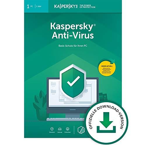 bester Test von antivirus software kostenlos Kaspersky Anti-Virus2020 Standard |  1 Gerät |  1 Jahr |  Windows |  E-Mail-Aktivierungscode