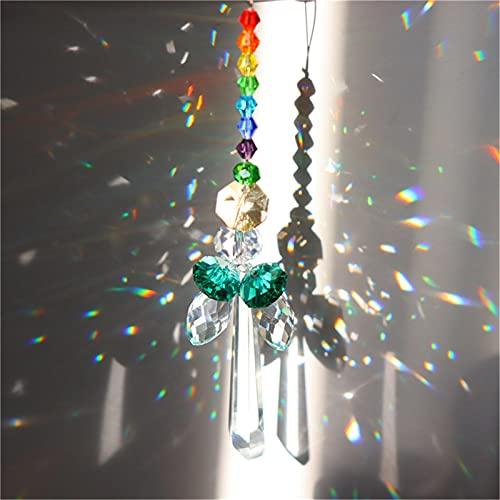 Gidenfly 5 PCS Ventana Colgando Crystal SunCatcher Beads Cadena Esfera Lámparas De Araña Lámparas De Cristal Ángel Pendiente Cortina Cortina Decoración De La Boda Regalo