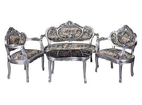 Sofagarnitur Sitzgruppe Barock Sofa Sessel Couchtisch Couchgarnitur cat499e60 Palazzo Exklusiv