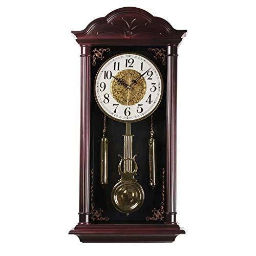 Orologio a pendolo grande vintage vintage vintage orologio a pendolo orologio a pendolo orologio da parete ideale per soggiorno, sala da pranzo, cucina, ufficio (23,4 x 11,6 pollici)