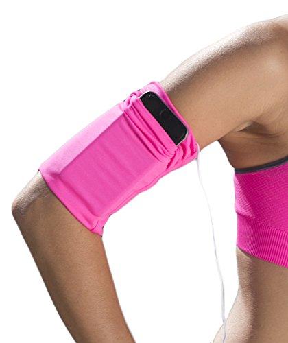 Bondi Band Sportarmband, praktische Art Handy, iPod, Ausweis, Kreditkarte, Bargeld, Schlüssel, Gels und mehr mitzunehmen, hält die Hände frei, AB-1276, neon pink, S
