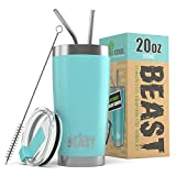 BEAST 20oz Teal Blue Tumbler - Insulated Stainless Steel...