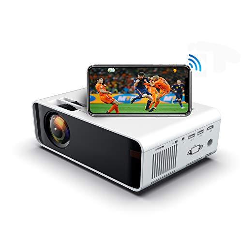 SOTEFE® WiFi Vidéoprojecteur-Mini Projecteur Portable 4500 Lumens Full HD 1080P Rétroprojecteur sans...