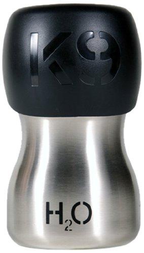 H2O4K9 Wasserflasche, 270ml, silberfarben