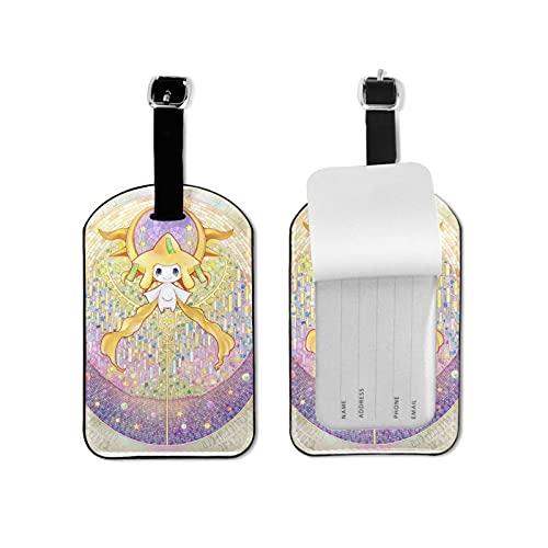 Anime Eevee etiqueta de equipaje elegante y exquisita, hecha de piel sintética de microfibra, apto para maleta y bolso