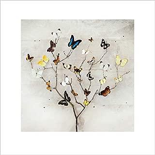 Art Group The Tree of Butterflies Ian Winstanley Print, Paper, Multi-Colour, 40 x 40 x 1.3 cm