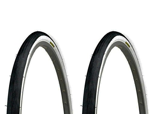 ONOGAL 2X Cubierta Neumatico Trekking Kenda Negro Blanco 700 x 38 28' 40-622 para Rueda de Bicicleta 3582