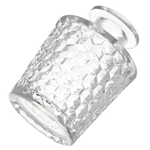 HEALLILY Difusor de Vidrio de 100Ml Difusor Transparente Jarrón para Aromaterapia Manualidades DIY Difusor de Caña Recarga Botellas de Aroma de Repuesto Cónico