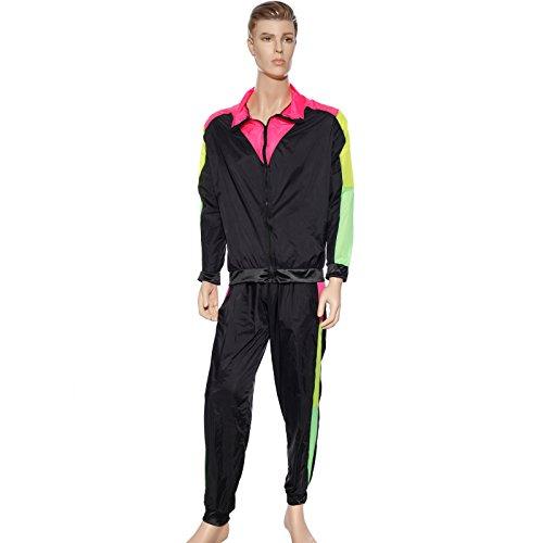 maboobie Noir Costume déguisement Homme Tenue Survetement Suit Sport Hip hop Annee 80 Femme (42/44)