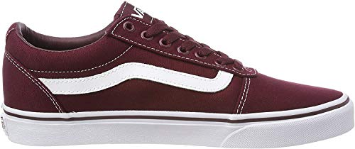 Vans Herren Ward Sneakers, Rot (Canvas) Port Royale/White 8j7, 46 EU
